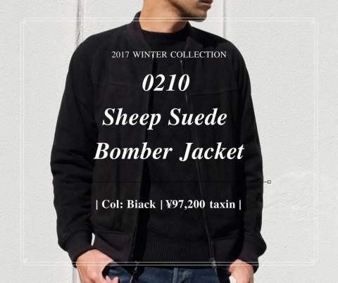 【LOUNGE LIZARD】 0210 Sheep Suede Bomber Jacket