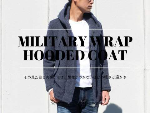 【wjk】 1074kw64 MILITARY WRAP HOODED COAT