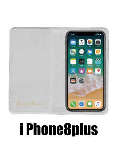iPhoneケース ブック型(iPhone8plus用) (WHITE) GBi1969WH