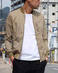 【Size3 残り1】 TASRAN LIGHT MA-1 (KHAKI) 1041810002