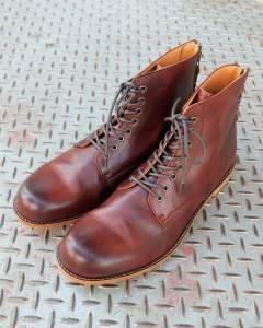 【Size40 残り1】 レースアップバックジップブーツ ANTONIOⅡ (D.BROWN)