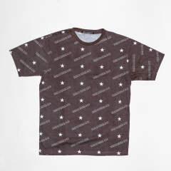 クルーネック Tee 『slash』 (BROWN) 19SS-TSH-003