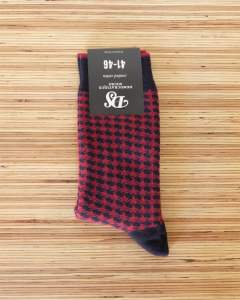 『DEMOCRATIQUE SOCKS』 ハウンドトゥース (NAVY)