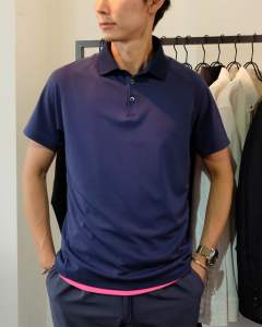 【3(M) 残り1】 TFW49 - スタンダード フィット ポロシャツ/STANDARD FIT POLO (NAVY) T101910003
