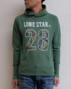 ガーゼミニ裏毛 プルオーバーパーカー「ロンスター」 (GREEN) / GAZE MINI FRENCH TERRY PULLOVER PARKA(LONE STAR)TSWF1704