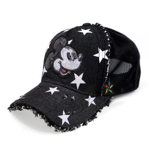 キャップ 「ミッキー」 (BLACK) TMC-02-BLACK-DENIM-STAR
